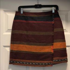LOFT tribal a-line skirt!